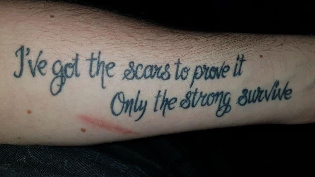 A Five Finger Death Punch fan tattoo