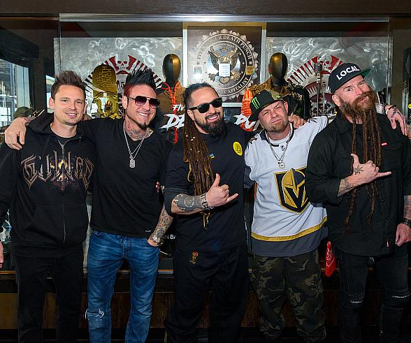 Five Finger Death Punch at the Hard Rock Hotel in Las Vegas on Five Finger Death Punch Day in 2019