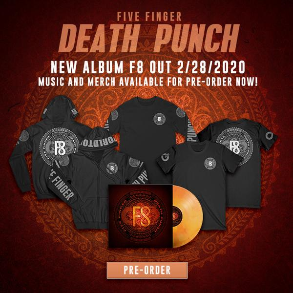 Five Finger Death Punch F8 pre-order bundles