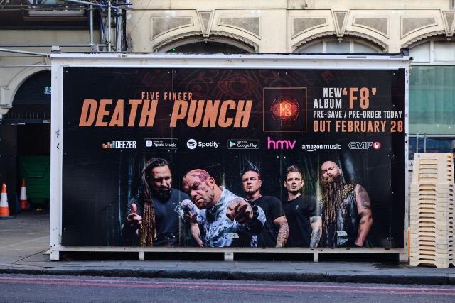 Five Finger Death Punch F8 Album Poster