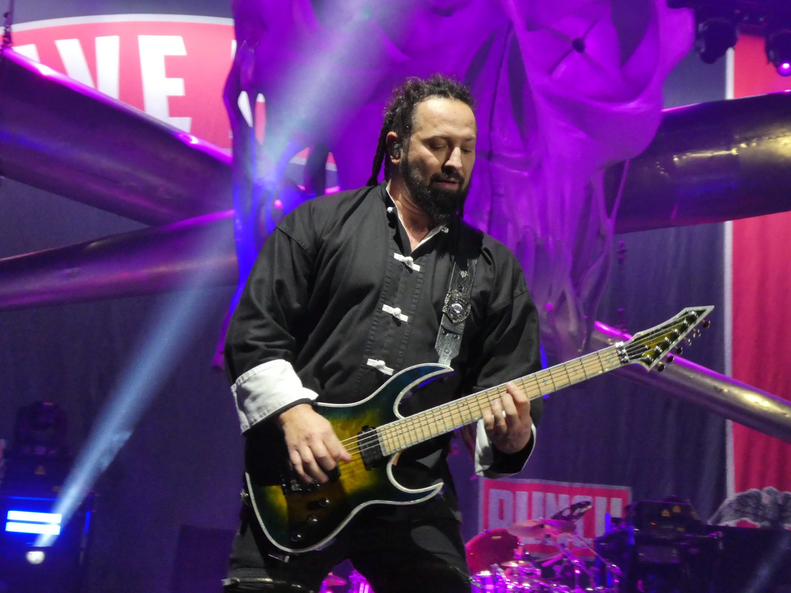Zoltan Bathory on stage at a 5FDP show in Cardiff at the Motorpoint Arena in 2020