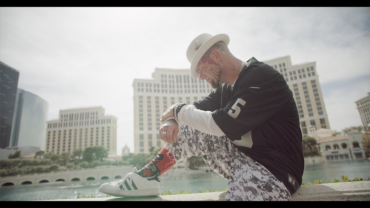 Ivan Moody on set for the music video forA Little Bit Off