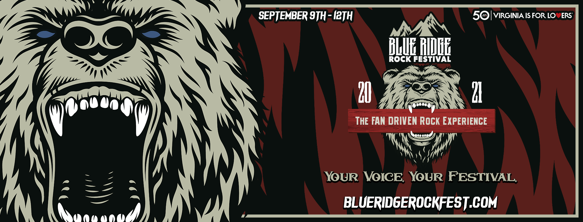 Blue Ridge Rock Festival 2021 Poster