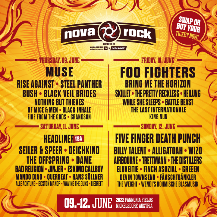 Nova Rock Festival Poster 2022